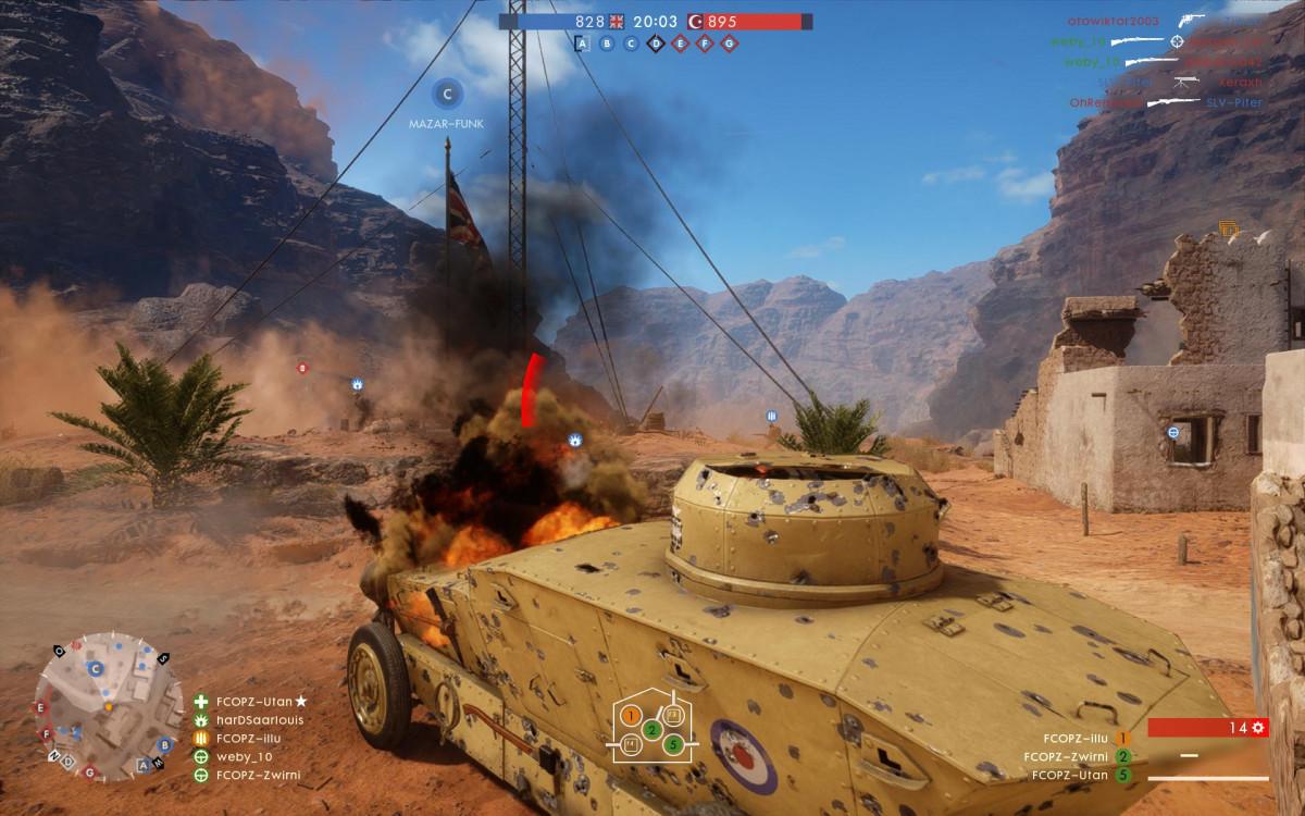 """""""Battlefield 1"""" - mit einem leicht gepanzertem Fahrzeug unterwegs"""