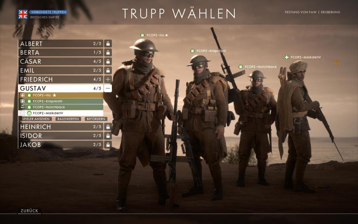 """""""Battlefield 1"""" - In BF1 schaffen wir es nur in kleine Squads"""