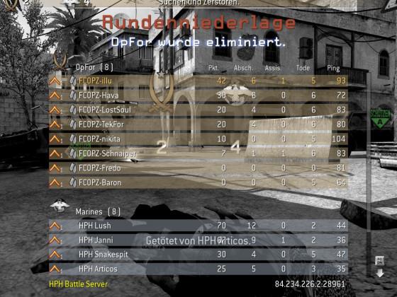 """Call of Duty 4 : Modern Warfare"" - Gut gekämpft und trotzden verloren gegen HPH"